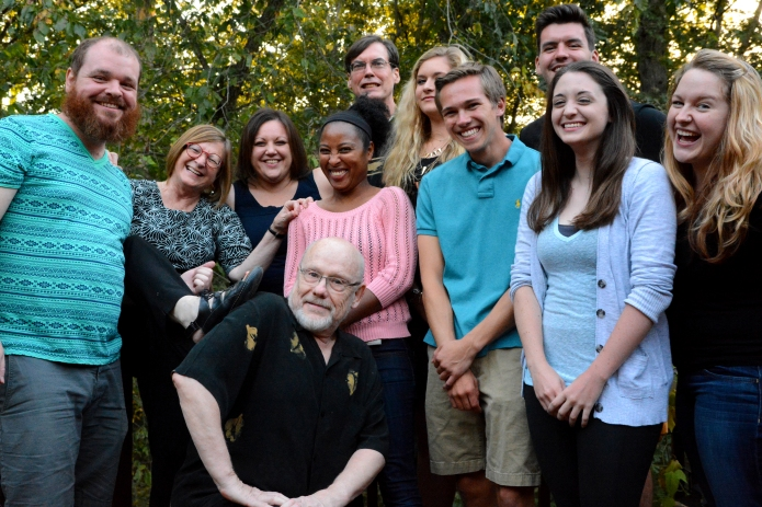 Schultz-Appel lab, Fall 2015: Clayton Coffman, Heidi Appel, Melanie Body, Jack Schultz, Dean Bergstrom, Alexis Kollasch, Jacob Combs, Will Neer, Nicole Odom, Casey Ladlie (Not on the picture: Dhru Dave and Reshma Kannah)