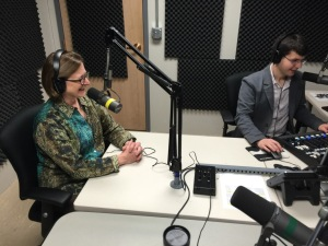 The author, Dr. Heidi Appel, sitting down for her n-teenth interview for the Conversation Roger Meissen, CC BY Click to enlarge 5.