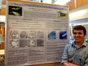 Ryan at the poster session for the Summer undergraduate research programme 2014