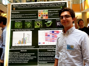 Wade at the poster session for the Summer undergraduate research programme 2014