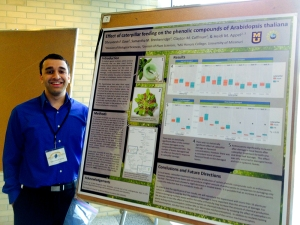 Dhru at the Life Science Week poster session - April 15, 2015