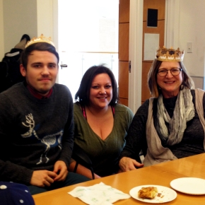Ryan, Melanie and Heidi for the Kings Cake