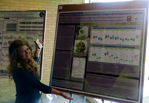Sam at the Life Science Week poster session - April 15, 2015