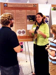 Laura at the Summer undergraduate research programme 2015