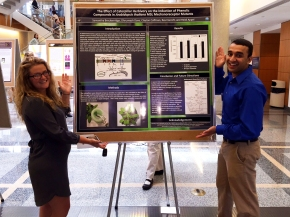 Sam and Dhru at the Summer undergraduate research programme 2015