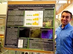 Dhru at the poster session for the Spring undergraduate research programme (April 26, 2016)
