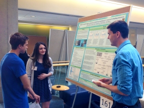 Jacob, Nicole and Will at the poster session for the Spring undergraduate research programme (April 26, 2016)