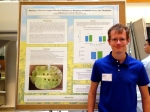 Keiran at the poster session for the Spring undergraduate research programme (April 26, 2016)