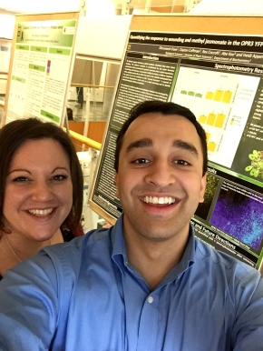 Melanie and Dhru at the poster session for the Spring undergraduate research programme (April 26, 2016)