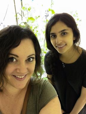 Melanie and Shreya during Biotests - 09-04-2016