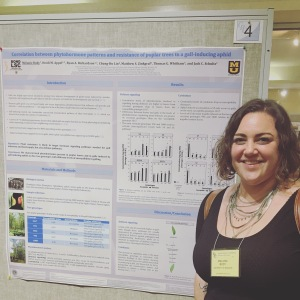 Melanie presenting her poster at the Gordon Research Conferences on Plant-Herbivore Interactions