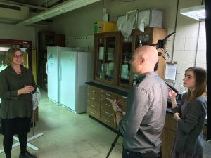 Heidi Appel during her interview by UT journalists