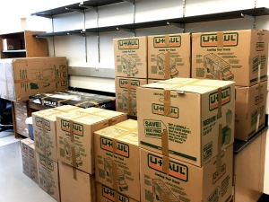 August 2017 — Boxes pilling up before the move from the University of Missouri to the University of Toledo...