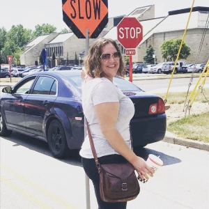 August 2017 —Melanie as traffic officer during the move to the University of Toledo.